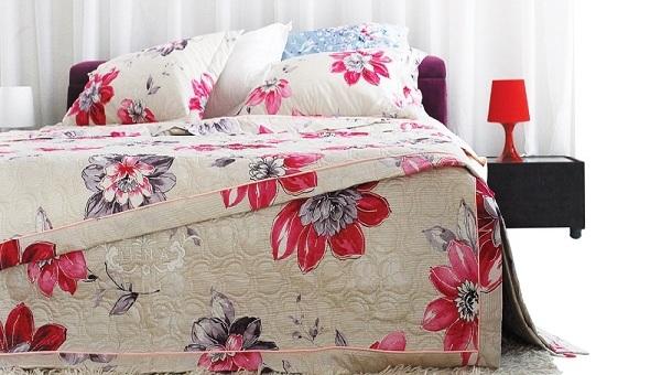 bộ chăn ga gối Liên Á Floral Pamelia QF0002 chính hãng